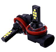 abordables -2pcs voiture h11 / h8 led ampoules feux de brouillard de voiture conduisant 12 smd 3030 led feu de voiture lampe de stationnement lumière 12v auto 6000k blanc / ambre / rouge