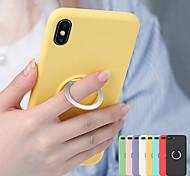economico -telefono Custodia Per Apple Per retro Silicone Custodia in silicone iPhone 11 Pro Max SE 2020 X XR XS Max 8 7 6 Resistente agli urti Con supporto Supporto ad anello Tinta unita Morbido TPU Silicone