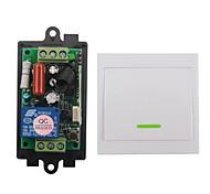 abordables -Télécommande de code d'apprentissage ac220v 1ch / charge 1000w / 1 relais avec interrupteur marche / arrêt 10a / 220v / fréquence à distance sans fil 433mhz