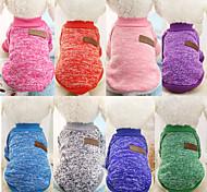 abordables -Chien Pull Combinaison-pantalon Vêtements pour chiots Couleur Pleine Mode Classique Hiver Vêtements pour Chien Vêtements pour chiots Tenues De Chien Chaud Bleu marine Violet Rouge Costume pour fille