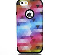 abordables -téléphone Coque Pour Apple Coque Arriere iPhone 7 iPhone 6 Antichoc Lignes / Vagues Dégradé de Couleur Formes Géométriques TPU PC
