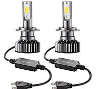 abordables -2 pcs Mini Voiture LED Phare Ampoule H7 Salut / Lo 72 W 10000lm Phare De Voiture Ampoule Avant De Voiture Super Lumineux Blanc Faisceau 6000 K 12 V Modélisation De Voiture Kit Antibrouillard