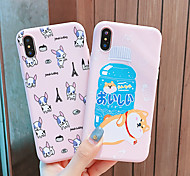 economico -Custodia Per Apple iPhone XS / iPhone XR / iPhone XS Max Impermeabile / Fantasia / disegno Per retro Animali TPU