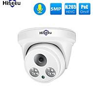 economico -Hiseeu HC615-P-3.6 5 mp Videocamera IP Al Coperto Supporto / Con filo / 1 canale / Accesso Remoto / Fisso / Taglio IR