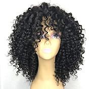 abordables -Perruque Synthétique Afro bouclé Coupe Dégradée Perruque Longueur moyenne Noir Cheveux Synthétiques 26~30 pouce Femme Nouvelle arrivee Noir