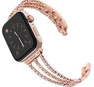 economico -Cinturino intelligente per Apple  iWatch 1 pcs Cinturino sportivo Stile dei gioielli Acciaio inossidabile Sostituzione Custodia con cinturino a strappo per Apple Watch Serie SE / 6/5/4/3/2/1 38