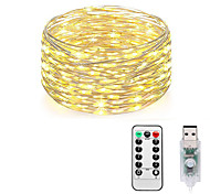 abordables -LOENDE 10m Guirlandes Lumineuses 100 LED Blanc Chaud RVB Blanc Imperméable Créatif USB 5 V Alimenté par Port USB