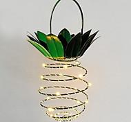 abordables -1pc led créatif ananas forme nuit lumière partie décoratif chaud blanc énergie solaire<5 v