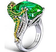abordables -Bague / Anneaux Le style rétro Vert Imitation Diamant Alliage Chanceux Rétro Vintage Tendance Coréen 1pc 7 8 9 / Femme