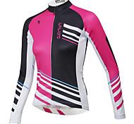 abordables -ILPALADINO Femme Manches Longues Maillot Velo Cyclisme Hiver Bleu Violet Rouge Grandes Tailles Cyclisme Sommet VTT Vélo tout terrain Vélo Route Etanche Respirable Séchage rapide Des sports Vêtement