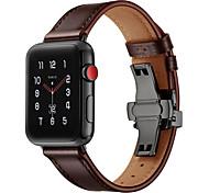 economico -Cinturino intelligente per Apple  iWatch 1 pcs Cinturino sportivo Vera pelle Sostituzione Custodia con cinturino a strappo per Apple Watch Serie SE / 6/5/4/3/2/1 38 millimetri 40 mm 42 millimetri 44mm