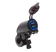 abordables -5v 3.1a moto étanche double chargeur usb guidon pince de fixation pour iphone samsung et xiaomi téléphones mobiles