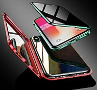 economico -telefono Custodia Per Apple Integrale Custodia ad adsorbimento magnetico iPhone 12 Pro Max 11 SE 2020 X XR XS Max 8 7 6 Resistente agli urti Anti peep Tinta unita Metallo