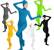 abordables -Combinaison Morphsuit Combinaison-pantalon Costume de peau Ninja Cosplay Adulte Lycra® Costumes de Cosplay Genre Femme Couleur unie / Collant / Combinaison