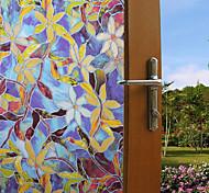 abordables -Film de fenêtre et autocollants Décoration Fleur / Avec motifs Géométrique / Personnage PVC Autocollant de Fenêtre / Drôle  100*45cm