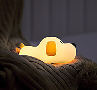 abordables -brelong usb rechargeable nuit lumière chiot silicone lampe enfant jouet lampe 30 / 60min avec fonction de sommeil pour chambre