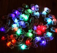 abordables -12pcs mini balles colorées ballon lumières led flash lampes papier lanterne mèche en plastique lueur flash mariage décoration