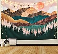 abordables -tapisserie murale art décor couverture rideau pique-nique nappe suspendu maison chambre salon dortoir décoration montagne forêt arbre coucher de soleil lever du soleil nature paysage