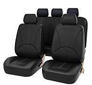 economico -4 pezzi / set 2 coprisedili anteriori in pelle pu auto universale universale coprisedili auto cuscino di protezione sedile anteriore copertura posteriore anteriore accessori interni veicolo stile auto