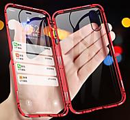 abordables -étui de téléphone en métal d'adsorption magnétique pour iphone xs max xr xs x couvercle en verre double face aimant en verre pour iphone 8 plus 8 7 plus 7 6 plus 6 étuis antichoc