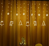 abordables -2.5m décoration de noël guirlande lumineuse 138 leds fée rideau fenêtre 1 set blanc chaud multicolore fête à la maison mariage noël nouvel an vacances décoration lumières plug
