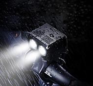 economico -LED Luci bici Luce frontale per bici LED Bicicletta Ciclismo Uscita di ricarica USB Rilascio rapido Litio-polimero 550 lm Batteria ricaricabile Bianco Ciclismo / Rotazione a 360°