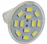 abordables -3 W Spot LED 250 lm GU4(MR11) MR11 12 Perles LED SMD 5730 Blanc Chaud Blanc Froid 12 V / 10 pièces