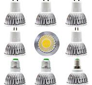 economico -9pcs 7 W Faretti LED 300 lm E14 GU10 GU5.3 1 Perline LED COB Oscurabile Nuovo design Bianco caldo Bianco 220-240 V 110-120 V