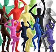 abordables -Combinaison Morphsuit Costume de peau Costumes complets Ninja Enfant Adulte Spandex Lycra Costumes de Cosplay Homme Femme Couleur Pleine Halloween / Collant / Combinaison / Costume Zentai