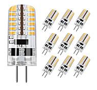 abordables -zdm 10pcs g4 5w 3014 x 48 led lampes à lumière blanche dc12v non-gradables équivalentes à 20w-25w t3 ampoule halogène de piste