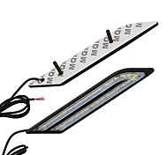 abordables -2pcs / set voiture drl led feux diurnes frein de voiture&ampoules de phare antibrouillard étanches dc12v
