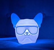 abordables -brelong usb charge veilleuses nuit lumière chien tête bulldog rgb lumière atmosphérique tactile contrôle capteur capteur