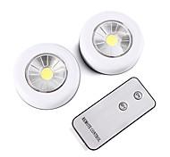 abordables -brelong télécommande sans fil led nuit lumière 2 pièce armoire lumière batterie alimenté lumière intérieure lampe de mur