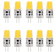 abordables -10pcs 4 W LED à Double Broches 400 lm G4 T 1 Perles LED COB Design nouveau Blanc Chaud Blanc 12 V