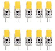 economico -10 pezzi 4 W Luci LED Bi-pin 400 lm G4 T 1 Perline LED COB Nuovo design Bianco caldo Bianco 12 V