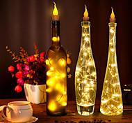economico -10x1m luci stringa 10 led fuoco senza fiamma decorazione luci per bottiglia vino decorazione bianco caldo rgb bianco creativo festa compleanno data proposta batterie alimentate