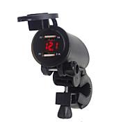 abordables -5v 3.1a moto double usb chargeur guidon pince de montage avec affichage numérique led pour iphone samsung et xiaomi téléphones mobiles