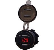 economico -Motocicletta / Auto Caricatore per auto 2 porte USB per 5 V