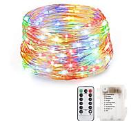 economico -Luci a stringa da 20 m 200 led bianco caldo rgb bianco impermeabile batterie creative per feste alimentate