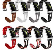 economico -Cinturino intelligente per Fitbit 1 pcs Cinturino sportivo Vera pelle Sostituzione Custodia con cinturino a strappo per Fitbit Charge 3 18 millimetri