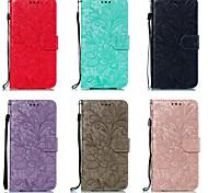economico -telefono Custodia Per LG Integrale Custodia in pelle LG V40 LG K30 LG G8 LG K50 Porta-carte di credito Floreale pelle sintetica