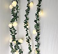 economico -2 pz 1 pz 10 20 40 led rosa fiore led luci stringa fata 1.5 m 3 m 6 m alimentato a batteria matrimonio san valentino evento festa ghirlanda decor luminaria