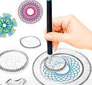abordables -Jeu de Dessin Tablettes de Dessin Spirographe PP+ABS ABS + PC Peinture Fait à la main Enfant Tous pour des cadeaux d'anniversaire ou des cadeaux
