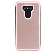 economico -telefono Custodia Per LG Per retro LG G6 Resistente agli urti Tinta unica Silicone Gel di silice PC