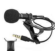economico -Microfoni audio Presa jack da 3,5 mm Microfono esterno mini microfono cablato lavalier a clip per telefono cellulare