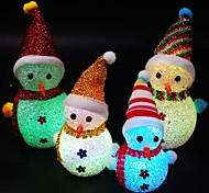 economico -1pc natale led pupazzo di neve luce notturna carino pupazzo di neve a forma di bagliore popolare nel buio per i bambini di colore casuale