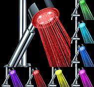 abordables -Pomme de douche led couleur de changement 2 mode de l'eau 7 couleur lueur lumière changeant automatiquement pomme de douche à main