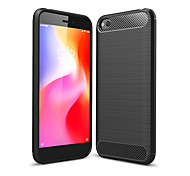 abordables -téléphone Coque Pour Xiaomi Coque Arriere Redmi Go Redmi Y3 Antichoc Etanche à la Poussière Couleur Pleine Fibre de carbone