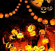 economico -3m 9.8ft 20 led luci stringa di halloween luci stringa esterne led zucca 3d luci jack o lanterna per arredamento esterno costante sfarfallio