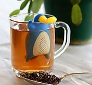 abordables -canard réutilisable forme d'ornithorynque filtre à thé en silicone feuille en vrac filtre drinkware infuseur à thé vides sachets de thé cuisine outils